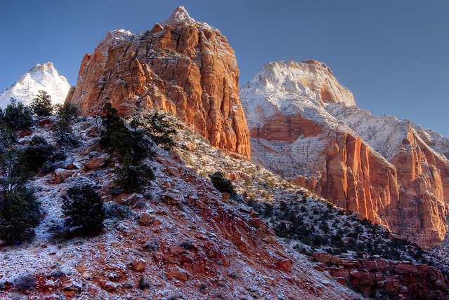 Snow covered Zion by Steve Riddle