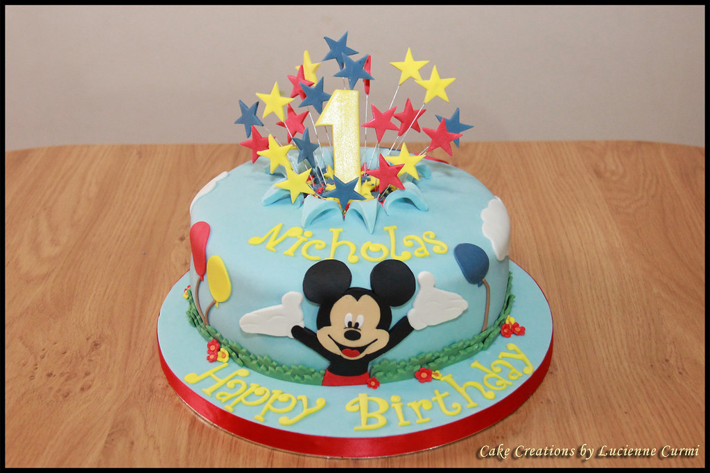 Birthday Cake Pictures Of Mickey Mouse : Mickey Mouse First Birthday Cake Lucienne Curmi Flickr