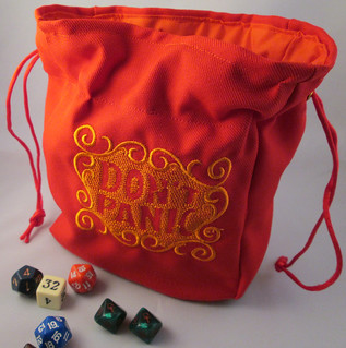 Don't Panic Hitchhikers Guide to the Galaxy Dice Bag Pouch | by Tote Uncommon
