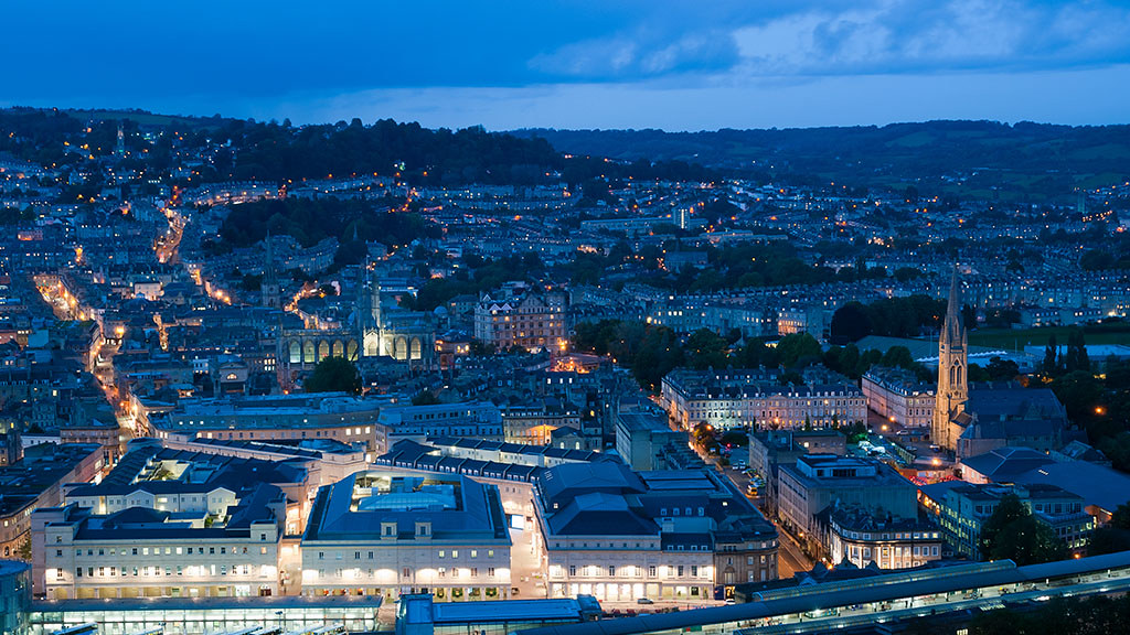 City of Bath by night
