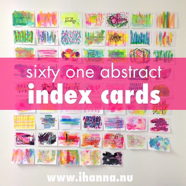 61 abstract painted index cards, 2016 - painted by iHanna #icad
