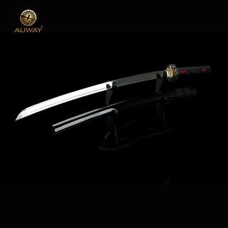 Auway-samurai-sword- Characters-Tsuba-Black-scabbard-2