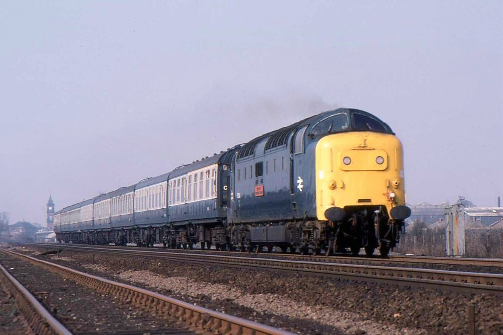 "55014 ""The Duke of Wellington's Regiment"" at Darlington. 12.04.1980. 