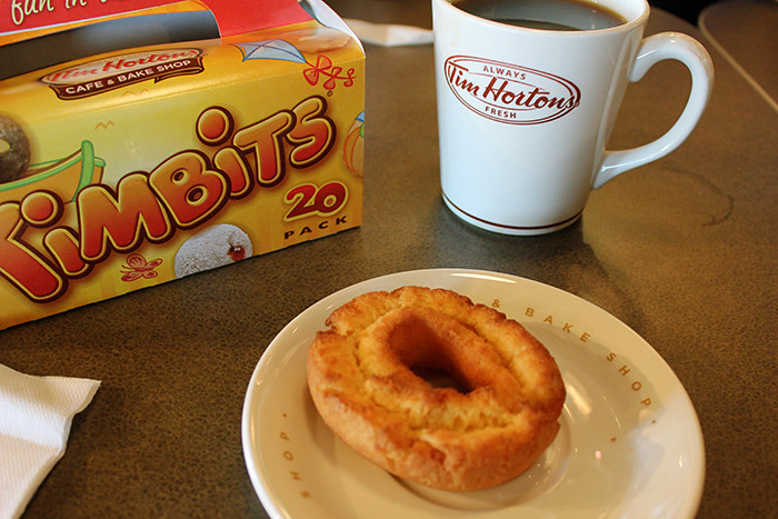 Tim Hortons Sour Cream Plain Cake Donut