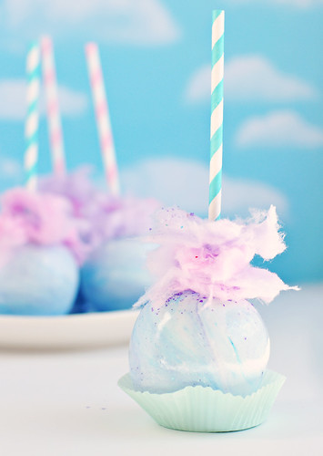 Pastel Swirl Cotton Candy Apple | by Sweetapolita