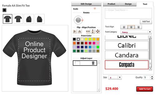 Online Custom T Shirt Design Software Application Tool