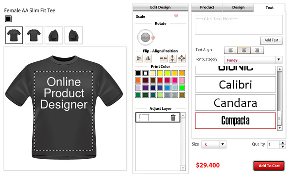 T Shirt Designing Software For My Website