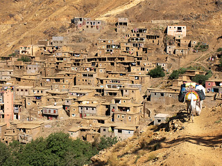 Mule and Berber Village, High Atlas Mountains, Morocco | by BuzzTrips