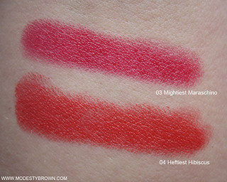 Clinique+Hibiscus+Maraschino+Swatches2 | by Modesty Brown
