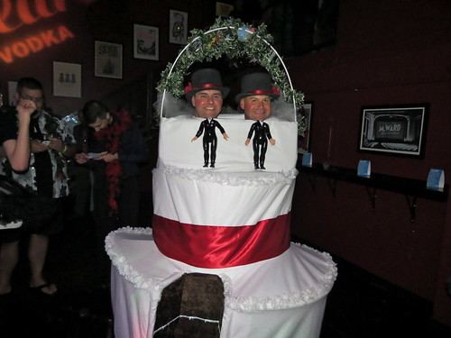Gay wedding cake at the Bump | by Lookin4TallGuys
