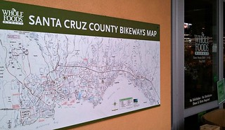 Santa Cruz Bikeways map at Capitola Whole Foods Market | by Richard Masoner / Cyclelicious