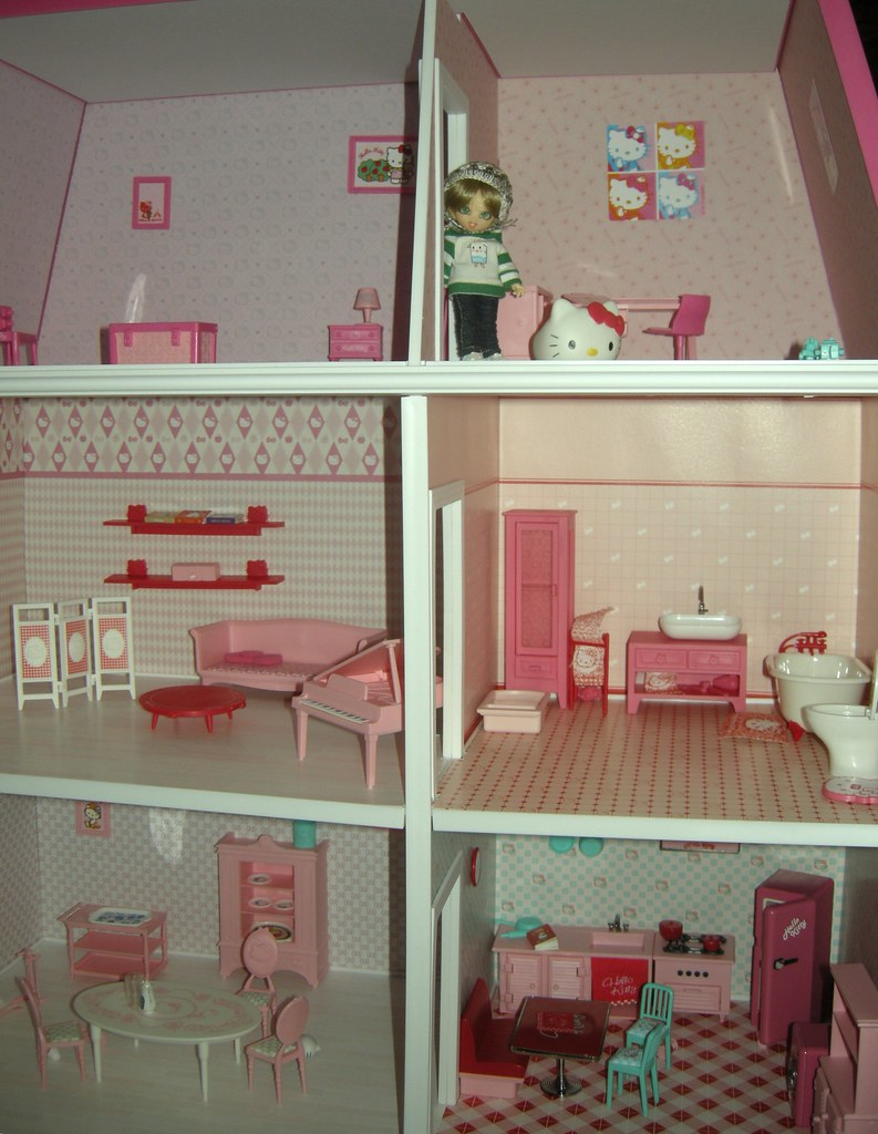 Hello Kitty House Tour hello kitty dollhouse tour - the house | my sweet friend cam… | flickr