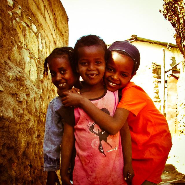 Beautiful Ethiopian kids smiling