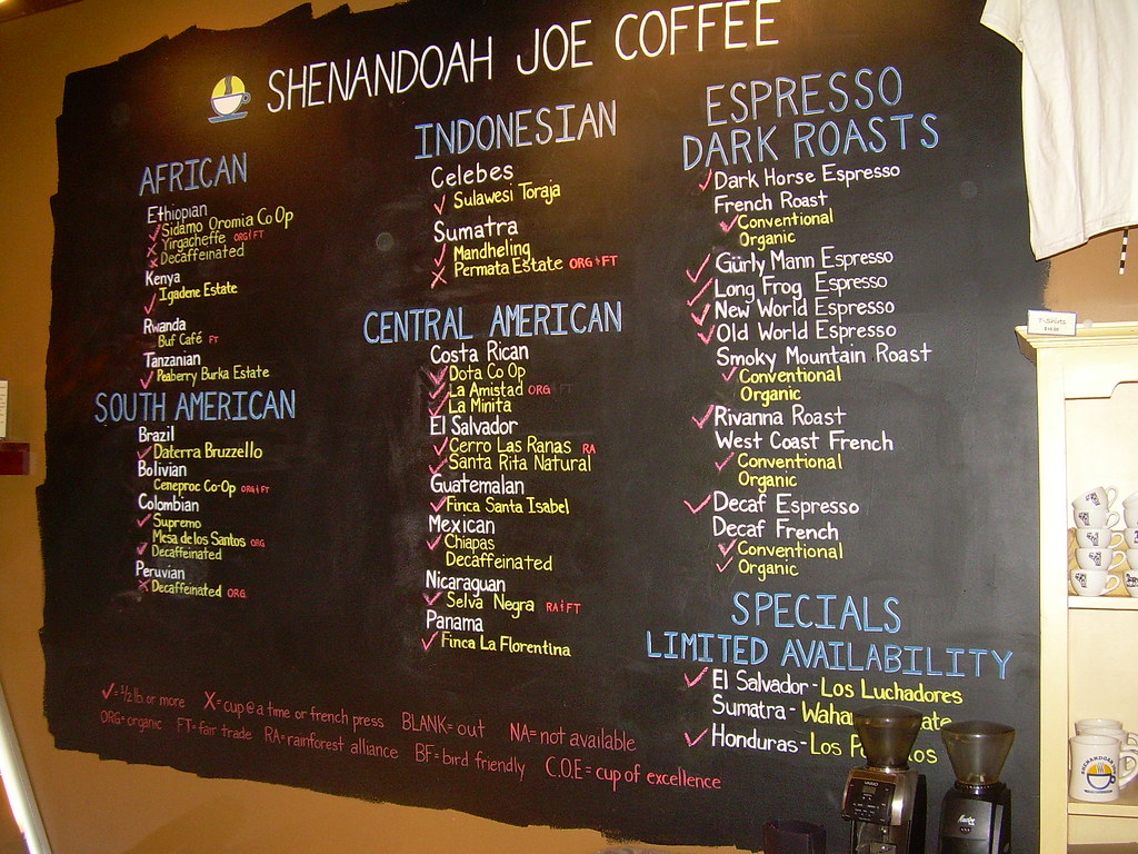 Cafe Menu Boards Ideas