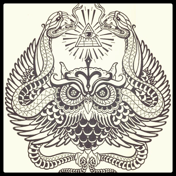 illuminati owl drawing - photo #25