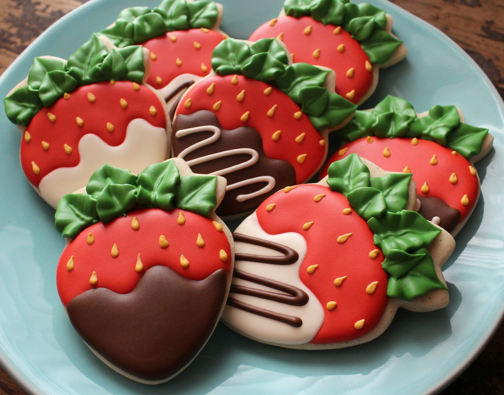 Chocolate Dipped Strawberry Cookies Design Is Almost An