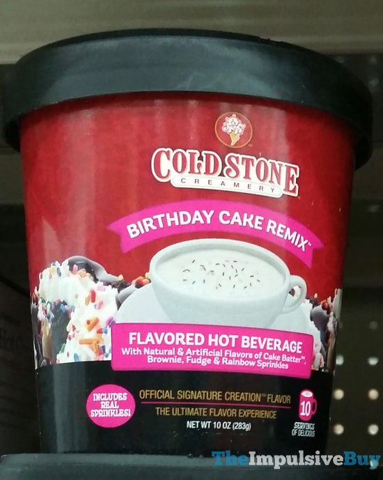 Cold Stone Creamery Birthday Cake Remix Flavored Hot Bever Flickr