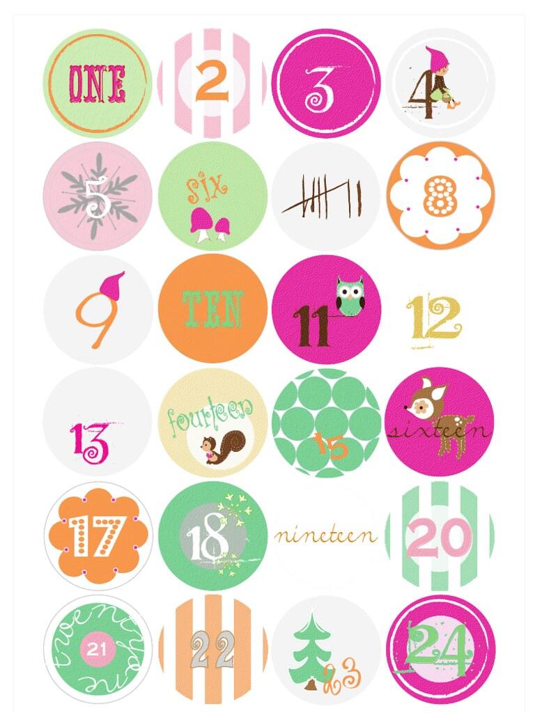 advent calendar free printable tags paul paula flickr. Black Bedroom Furniture Sets. Home Design Ideas