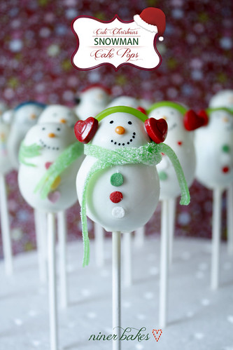 The cute Snoman Cake Pops Family | by niner bakes