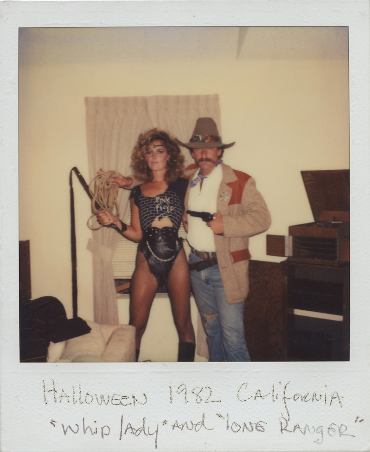 Found Photo Whip Lady And Lone Ranger 1982 Todd