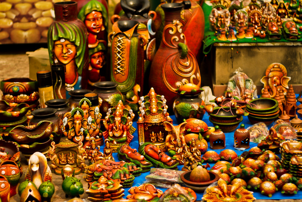 More Pottery-Dilli Haat | One more pottery vendor at Dilli ...