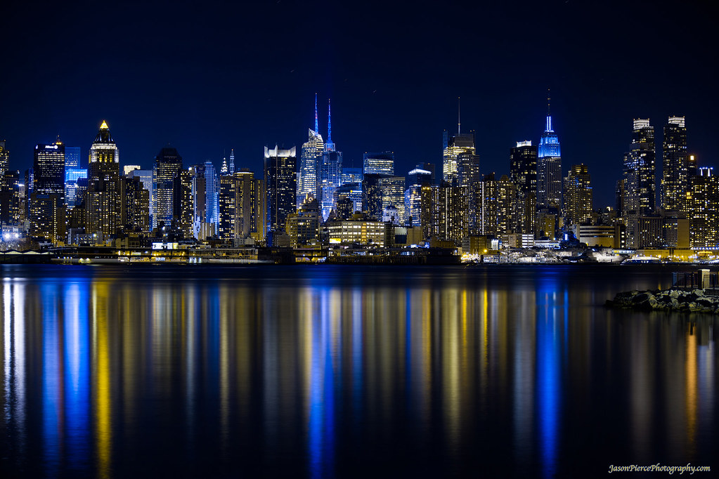 manhattan skyline at night from west new york see it bigge flickr. Black Bedroom Furniture Sets. Home Design Ideas