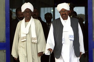 Republic of Sudan President Omar Hassan al-Bashir with First Vice-President Ali Osman Taha. The government announced in November 2012 that there were arrests surrounding a coup plot. | by Pan-African News Wire File Photos