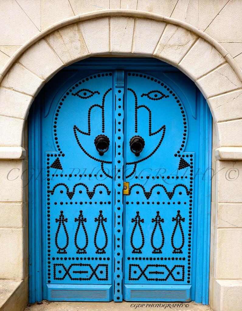 Porte sidi bou said photo prise sidi bou said des for Decoration porte sidi bou said