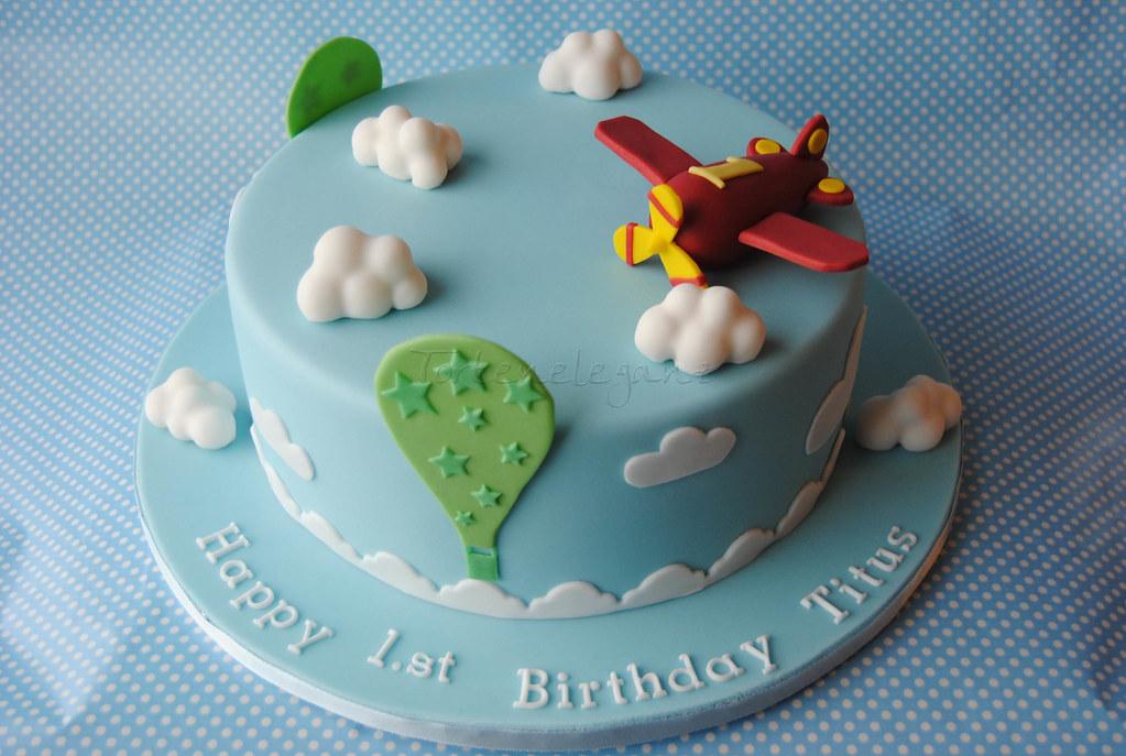 Flugzeug Torte Fur Titus 1 Geburtstag Airplane Cake For Flickr