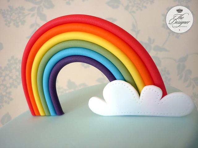 fondant rainbow