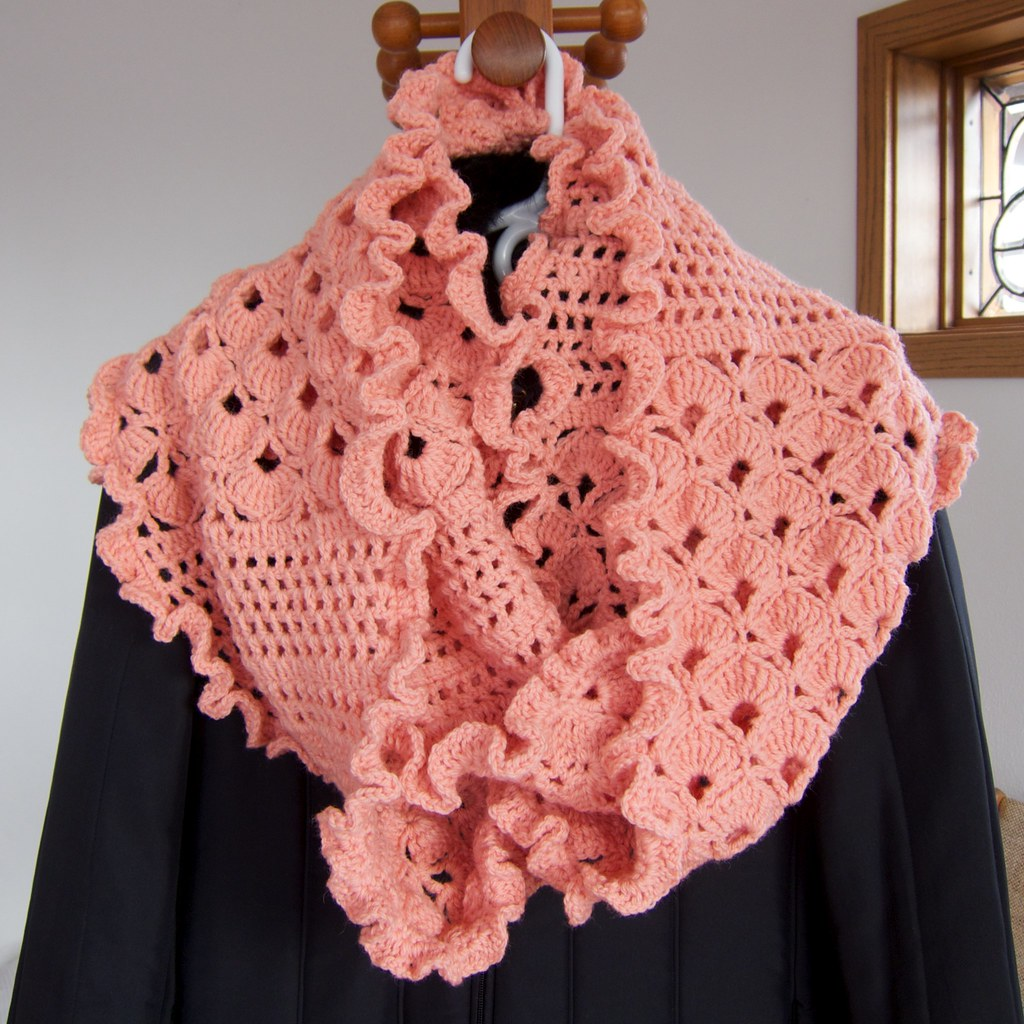 Crocheted Infinity Scarf Infinity Scarf 11