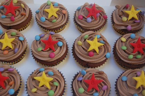 The perfect addition to the Giant Cupcake with Smarties! Gorgeously chocolatey cupcakes from £1.50 each (minimum order 24 or 12 if ordered with Giant Cupcake)
