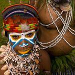 Highlander Kid In Mount Hagen During Sing Sing Ceremony, Western Highlands, Papua New Guinea