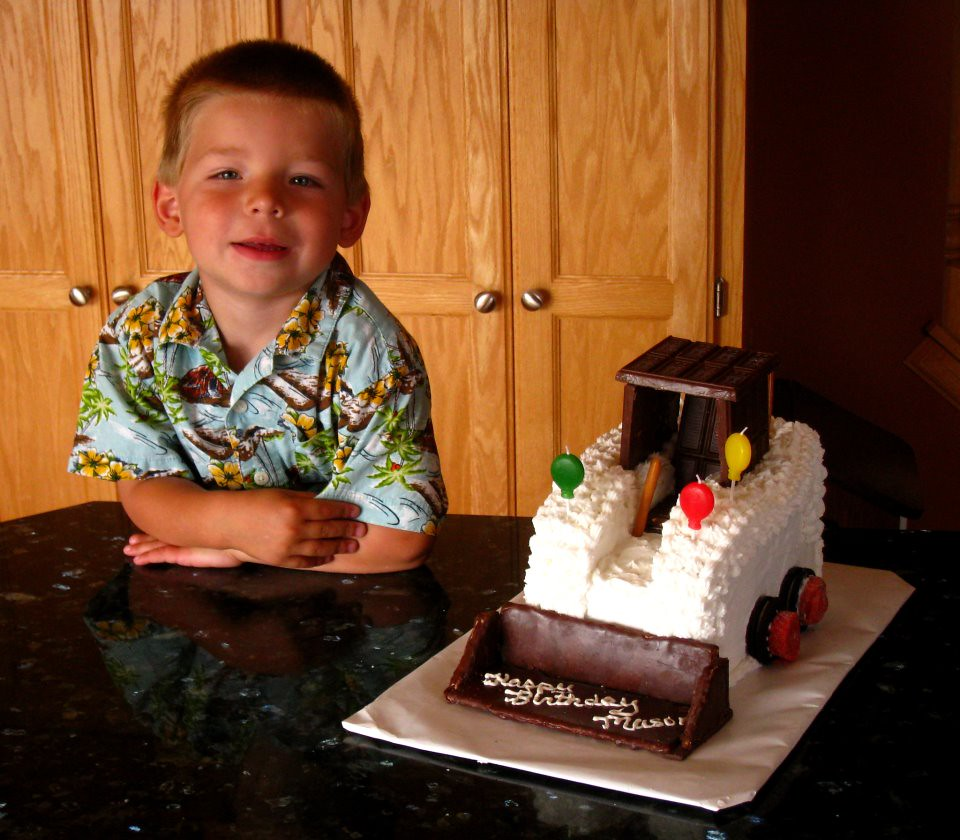 Bobcat Loader Birthday Cake From white iron to white icin Flickr