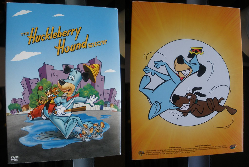 Huckleberry Hound Dvd Boxset Vol 1 Front And Back Witho