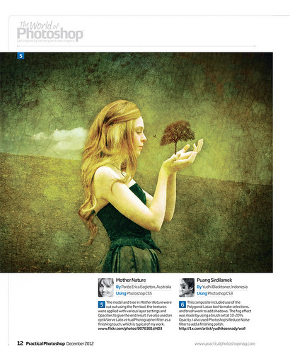 My Image Featured in Practical Photoshop Magazine December 2012 edition | by pareeerica