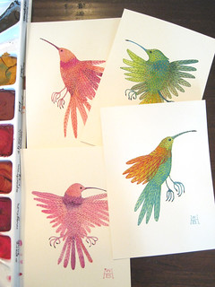 collection of tiny hummingbirds | by Golly Bard