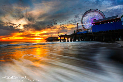 Rush Hour ~ Santa Monica Pier at Sunset ~{explored}~ | by landESCAPEvisuals | jeff lewis