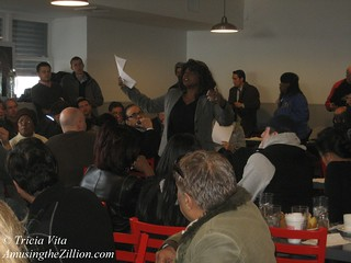 SBA Rep speaking at meeting of business owners | by me-myself-i