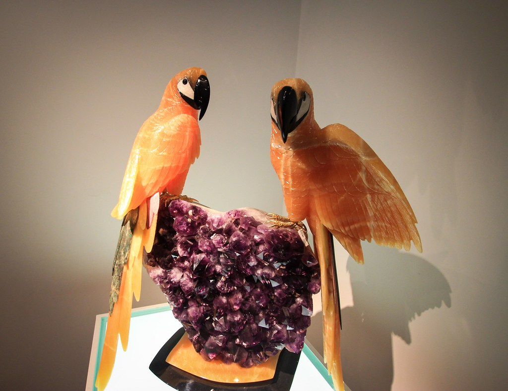 Stone carved statues of brazil birds at amsterdam sauer ge