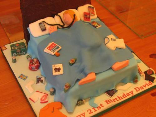 Bed Birthday Cake