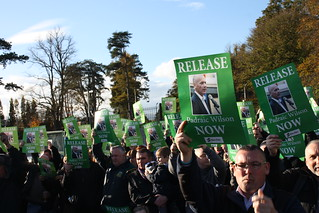 100's attend protest calling for release of Padraic Wilson | by Sinn Féin
