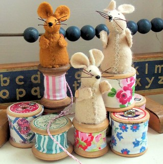 Cotton Spool Mice | by Bustle & Sew