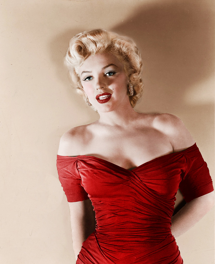 dress - Monroe Marilyn red dresses pictures video