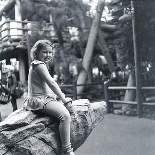 Kate on the bear rocks: Yashica A