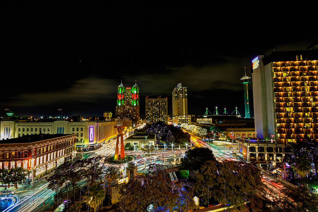 Back For Now Christmas Lights Downtown San Antonio HDR | By Flipintex  Fotos. Back For Now