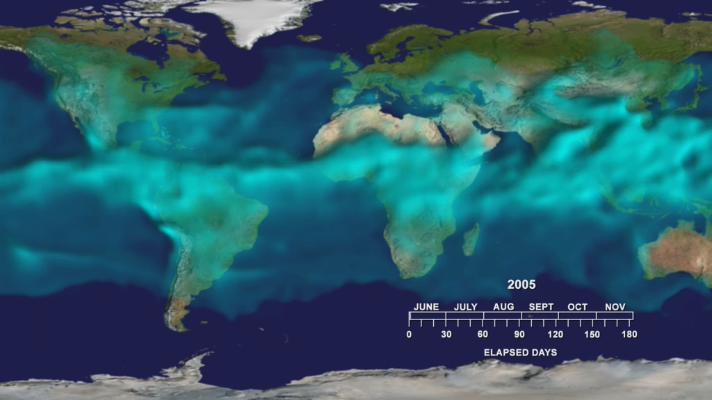 Water Vapor Transport, June through November 2005 This vis… Flickr