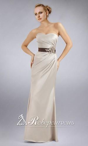 chic longue robe ivoire pour mariage courte bustier rpv006. Black Bedroom Furniture Sets. Home Design Ideas