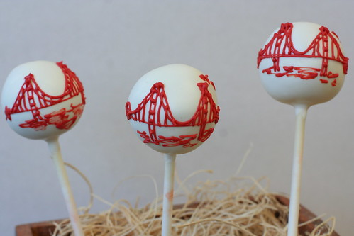 Golden Gate Bridge Cake Pops | by Sweet Lauren Cakes