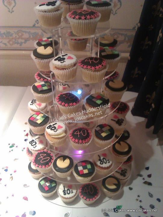 Fab Funky 40th Birthday Cupcakes 80s Style www.facebook ...